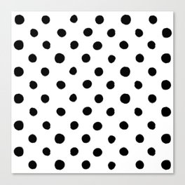 Modern Handpainted Abstract Polka Dot Pattern Canvas Print