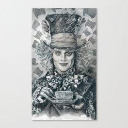 Mad Hatter - Johnny Depp Traditional Portrait Print Canvas Print