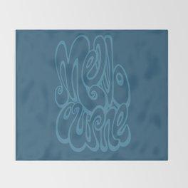 Melbourne typography - sailor blue Throw Blanket