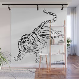 Vintage Tiger Asian Culture Wall Mural