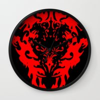 lions Wall Clocks featuring Lions by Littlefox