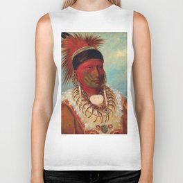 The White Cloud, Head Chief of the Iowas by George Catlin Biker Tank