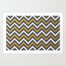 Metallic Zigzag Art Print