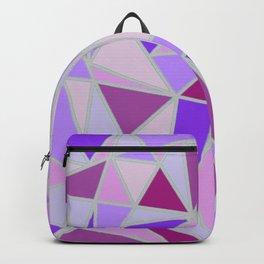 Purple Shards Geometric Pattern Backpack