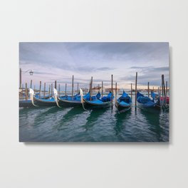 THE GONDOLAS OF VENICE - ITALY EUROPE CITYSCAPE PHOTOGRAPHY PRINT Metal Print