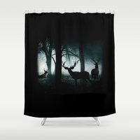 guardians Shower Curtains featuring Guardians of the Forest by Dre' J - Cyncor Artworks