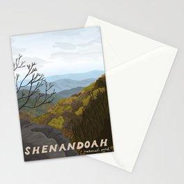 Shenandoah National Park, Virginia, Shenandoah River, Retro Vintage Style Poster Stationery Cards