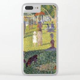 "Georges Seurat ""A Sunday on La Grande Jatte (study)"" (1884-85) Clear iPhone Case"