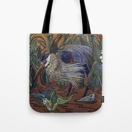 Great Blue Heron with Snapper Tote Bag