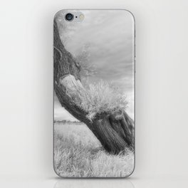 Infrared photo of willow iPhone Skin