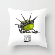 State of New York Throw Pillow