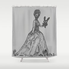 The Black Bunny of Doom and his Date Shower Curtain