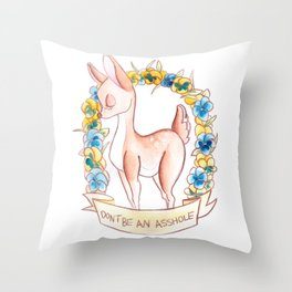 How To Be A Decent Person - Deer Throw Pillow