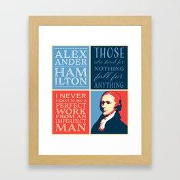 Alexander Hamilton Quotes Framed Art Print