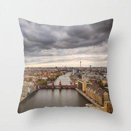 Berlin Oberbaumbrücke Throw Pillow