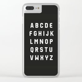 Typography Alphabet #3 Clear iPhone Case