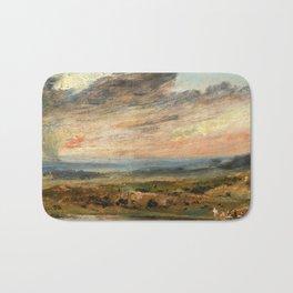 "John Constable ""Heath, with Pond and Bathers"" Bath Mat"