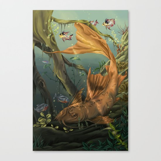 Golden Catfish  Canvas Print