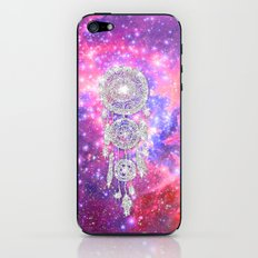Galaxy Nebula Glitter dreamcatcher Pink Purple Space iPhone & iPod Skin