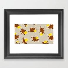 Stars (Brown & Gold on Sand) Framed Art Print