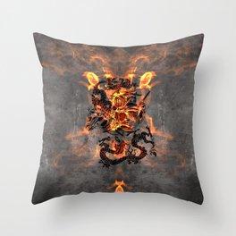 Dragon Knight Throw Pillow