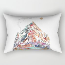 Base Camp - Himalayan Mountain Tent Village Rectangular Pillow