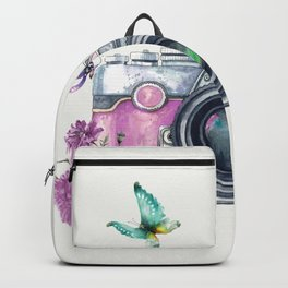 Camera with Summer Flowers 2 Backpack
