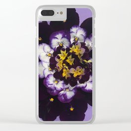 Spring Bouquet Wreath Clear iPhone Case