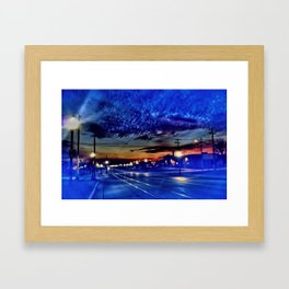 Morning Travel in Kenosha Framed Art Print