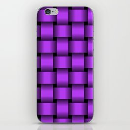 Large Light Violet Weave iPhone Skin