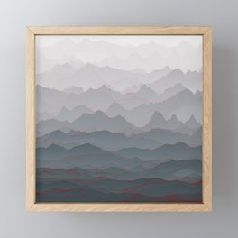 Mountains of Madness I Framed Mini Art Print