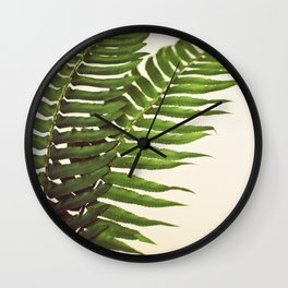 Ferns II Wall Clock