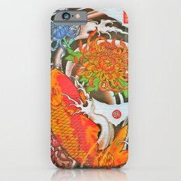 Japanese Koi Carp with Flowers (39) iPhone Case
