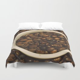 gimme a cup of coffee Duvet Cover