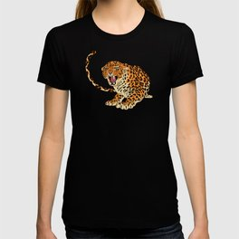 Leopards in the jungle pattern. T-shirt