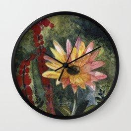 Vibrant Blossom Wall Clock