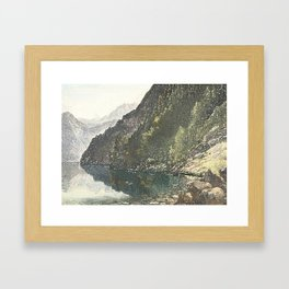 To the loch Framed Art Print