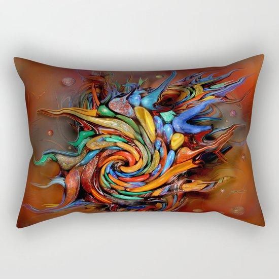 Abstract wash Rectangular Pillow