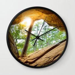 Sunshine in a Dark Cave Wall Clock