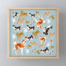 Japanese Dog Breeds Framed Mini Art Print