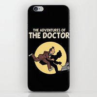 tintin iPhone & iPod Skins featuring The Adventures Of The Doctor by Deborah Picher Illustrations