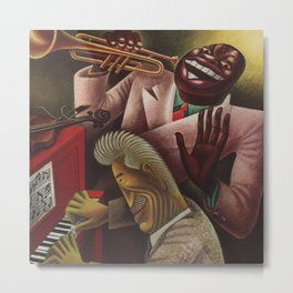 African American Masterpiece 'Louis Armstrong - Jazz' by Miguel Covarrubias Metal Print