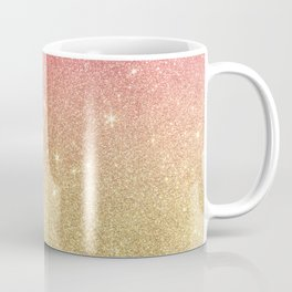 Pink abstract gold ombre glitter Coffee Mug