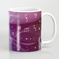 rock and roll Mugs featuring Rock and roll by victimArte