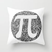 pi Throw Pillows featuring PI by Nora