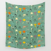kitchen Wall Tapestries featuring Kitschy Kitchen by Odd Lee