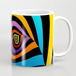 Valentine hearts twirling in rainbow colors Coffee Mug