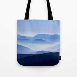 Mountains in contrast Tote Bag