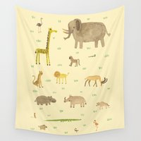 african Wall Tapestries featuring African Animals by Sophie Corrigan