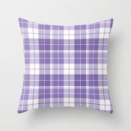 Ultra Violet Tartan Pattern Throw Pillow